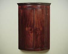 Antique George III Inlaid Bow Front Corner Cupboard c.1810.