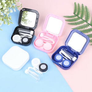ABS Plastic Contact Lens Case Mirror Cover Travel Container Holder Storage CaVV
