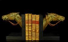Paire de serre-livres tête de cheval Buchstützen Pferdekopf bookends horse head
