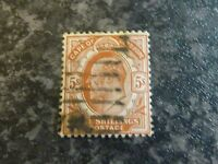 CAPE OF GOOD HOPE POSTAGE STAMP SG78 5/- BROWN ORANGE VERY FINE USED