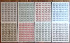 Bund 454 - 461 postfrisch Bogensatz Bogen Bauten I Michel 1200,00 Euro DZ FN