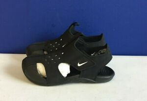Nike Toddler Sunray Protect 943827-001 Black White Activewear Sandals Size 10