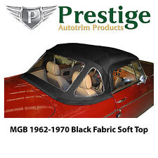 MGB/MGC Black Fabric Mohair Soft Tops Convertible Tops 1962-1970