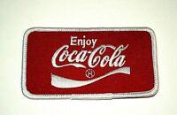 Vintage Enjoy Coca-Cola Coke Soda Red Cloth Patch 1980s NOS New