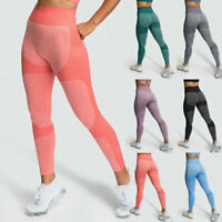 Women High Waist Push Up Leggings Yoga Fitness Pants Seamless Gym Sport Trousers