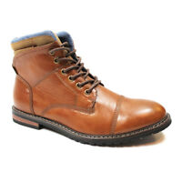 Mens Cap Toe Ankle Dress Derby Boots Lace Up Modern Denim Friendly Footwear AZAR