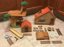 EPOCH Sylvanian Families Doll Tree House Log Cabin Lot