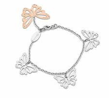 Trendy Brosway BFS15 butterfly rose gold plated charm bracelet .Made in Italy