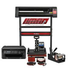 Kit Plotter de Corte, Impresora Sublimación y Prensas de Calor Térmicas 5en1