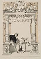 Franz von STUCK (1862-1928), Concert, Lithographie mit Tonplatte, signiert