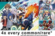 Cardfight!! Vanguard V-BT01 Unite! Team Q4 4x COMMON/RARE ENGLISH PLAYSET*