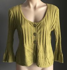 Unique Citrine REQUIREMENTS 3/4 Sleeve Stretch Knit Cardigan Size M/10