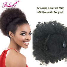 Natural Black AFRO PUFF Curly Ponytail Hairpiece Drawstring Ponytail With Clips