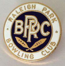 Raleigh Park Bowling Club Badge Rare Vintage (K6)