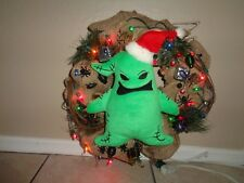 """Nightmare Before Christmas Oogie Boogie Christmas Wreath Lighted  Large 16"""""""