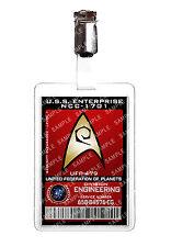 División de Ingeniería de Star Trek Starfleet ID Badge Disfraz Cosplay Prop Comic Con