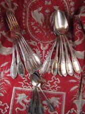 ancienne partie menagere metal argenté epoque 1900 poincon style empire couronne