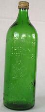 Bottle Old Antique Glass Methylated spirits Fire Hazard Fire Flame DDR VEB Green