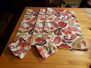 Peri Home Towels paisley NEW 3 hand towels 2 face towels plush! new