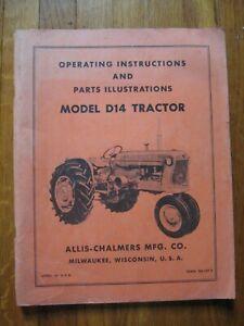 Allis Chalmers D-14 D14 D 14 tractor operators manual ORIGINAL