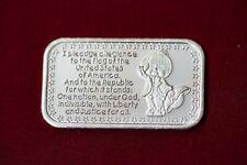 1oz ~ One Troy Ounce Silver .999 Bar ~ Pledge of Allegiance ~ American Flag