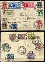404 - Vaticano - Serie Conciliazione su raccomandata per Milano, 18/10/1929