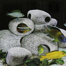 Cichlid Stone Ceramic Rock Cave Aquarium Fish Tank Ornament Decoration New