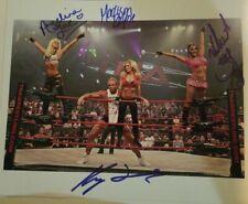 The Beautiful People Signed 8x10 Photo TNA Wrestling Velvet Angelina Madison Kip