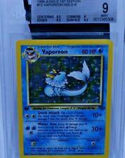 Vaporeon 1st Ed Edition BGS 9 Jungle Set Pokemon Holo MINT