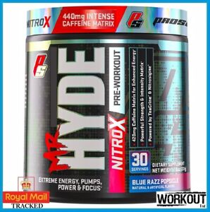 ProSupps Mr Hyde NITRO X Pre Workout Focus Energy Pump EU FORMULA 30 SERV