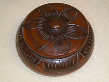 Vintage Wooden Trinket Box / Candy Dish, Hand Carved in Haiti