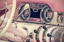 SUPERB RETRO VINTAGE CLASSIC CAR CANVAS #554 QUALITY A1 CANVAS PICTURE WALL ART