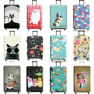 Printed Trolley Case Luggage Protective Cover Elastic Suitcase Protector 18 -32""