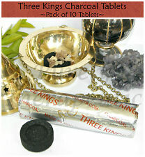 ~3 KINGS CHARCOAL TABLETS BLOCKS~PACK OF 10 TABLETS~Three Kings~Resin~Incense~