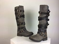 Steve Madden New Women's Bryannt Over The Knee Leather Black Boots Size 7M
