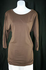 Velvet by Graham & Spencer Chestnut Brown Dolman Sleeve Tunic Top - Size M