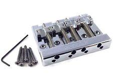 Genuine Fender 4-string Block Logo High Mass Bass Bridge 099-4407-000