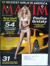 MAXIM MAGAZINE # 189 Paulina Gretzky December 2013