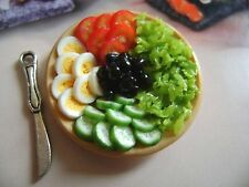 1 dolls house miniatures food salumi platter maison de poupée Dolls house fimo^^