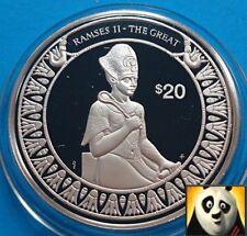 1997 Liberia $20 dólares mundos conquistador Ramses II el gran moneda de plata prueba