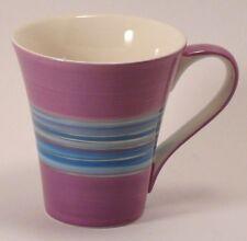 Purple SILVER STRIPES Coffee Mug Blues FIB Burton Southern 10 oz hand wash