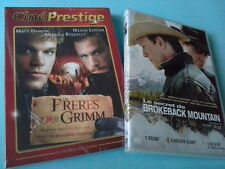 Lot 2 DVD Heath Ledger Secret Brokeback Mountain Frère Grimm Matt Damon Zone 2
