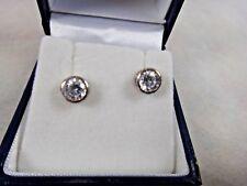 Pair of 925 Sterling Silver Diamante Stud Earrings MIP