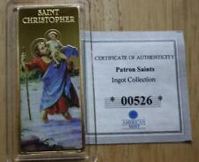 SAINT CHRISTOPHER INGOT PATRON SAINT COMMEMORATIVE PROOF COLLECTION