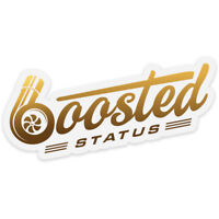 Boosted Status Decal / Sticker - Gold - Boost Turbo