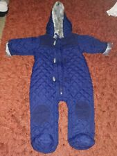 Baby Boys clothes. Age 3 To 6 Months Snow Suit. All In One. Navy. Water Proof.