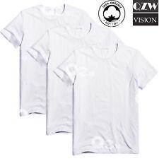 3-6 Pack Mens 100% Cotton Tagless Round T-Shirt Undershirt Tee White New