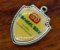 Vintage silver CANEEL BAY ST. JOHN U.S. VIRGIN ISLANDS TRAVEL SHIELD charm #E36