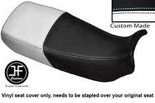 BLACK AND WHITE VINYL CUSTOM FITS HONDA XL 600 V TRANSALP DUAL SEAT COVER ONLY