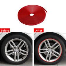 Car Wheel Hub Cover Protector Ring Tire Rims Sticker Rubber Strip Kits Universal